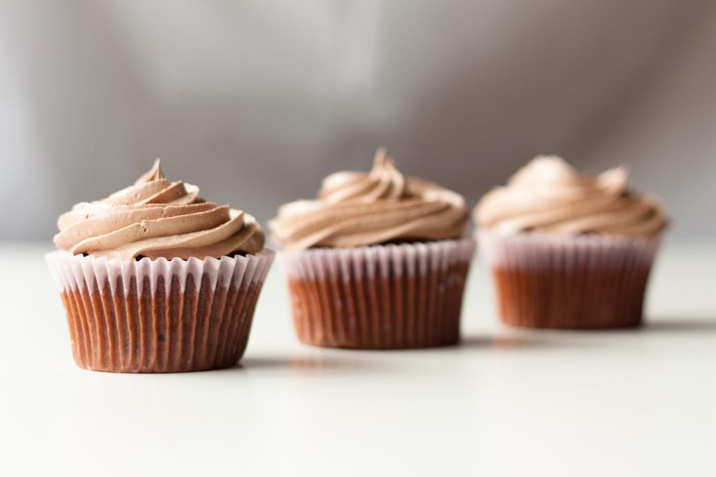 Cupcakes de vainilla rellenos de Gourmand de Chocolate